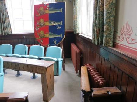 Radiators in the council chamber